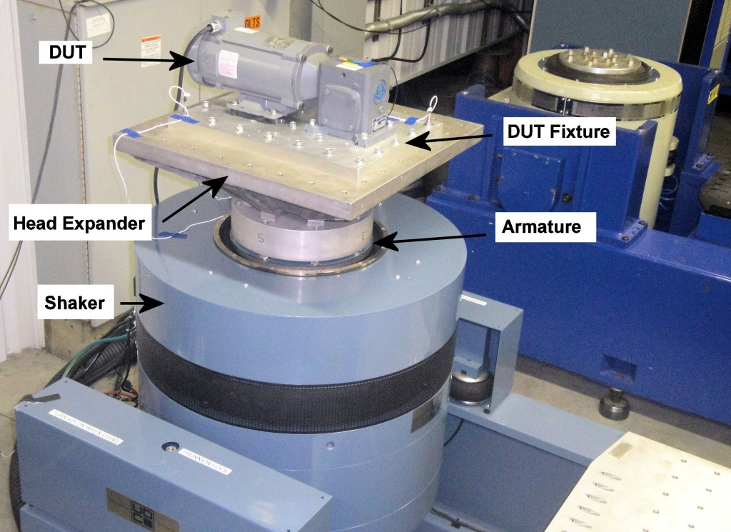 Figure 1.  Vibration Testing in a Vertical Configuration