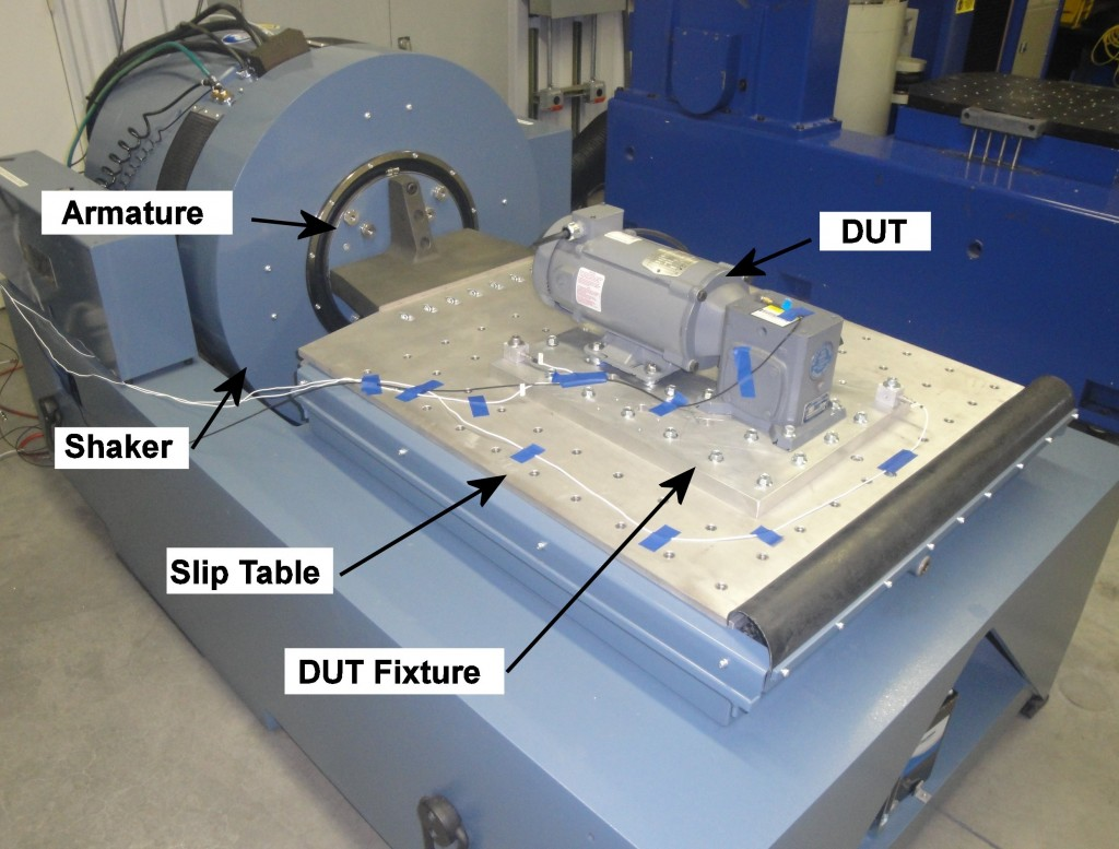 Figure 2. Vibration Testing in a Horizontal Configuration